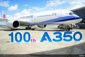 Airbus liefert 100. Flugzeug der A350 an China Airlines aus