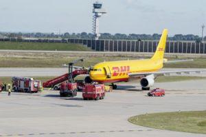 Notfallübung am Flughafen Leipzig/Halle