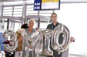 3.000.000 Passagere am Flughafen Nürnberg erreicht