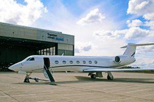 Gulfstream G550 zügig durch Wartung und Lackierung