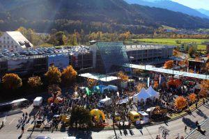 Fest am Flughafen Innsbruck zum Nationalfeiertag in Österreich
