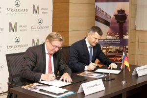 Flughäfen München und Moskau Domodedovo arbeiten zusammen