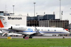 HALO flog von Shannon in die Troposphäre