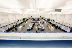 Kontrollzentrale UAC Karlsruhe mit neuem Flugsicherungssystem