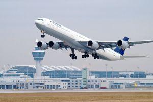 A340-600 für Flüge der Lufthansa München – Berlin