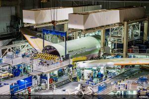 Airbus A330-800neo in der Montage