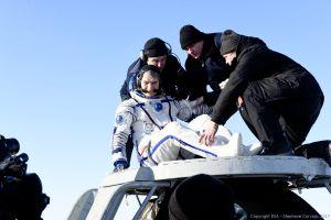Landung von ESA-Astronaut Nespoli