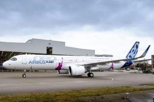 A321neo ACF verlässt Hallen in Hamburg
