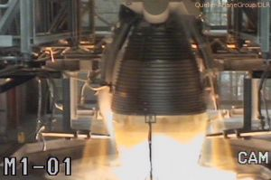 DLR beim Test von neuem Raketenantrieb