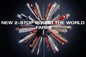 RTW-Bedingung: mit zwei Stopps um die Welt