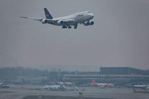 Rundflug durch Deutschland: 747-8 grüßte mit neuem Logo