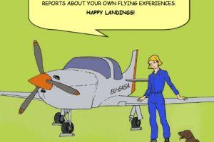 Comic zur Sicherheit der Allgemeinen Luftfahrt
