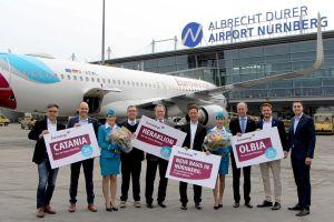 Eurowings mit Flugzeug in und neuen Zielen ab Nürnberg