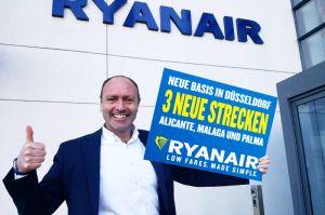 Ryanair: Basis in Düsseldorf für Alicante und Malaga