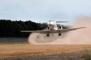 PC-24 Jet bei Start und Landung