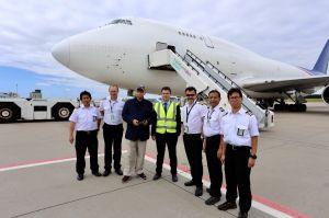 B747-400F für Luftfahrt ohne Grenzen fliegt in Nordirak