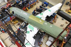 Airbus Corporate Jet ACJ320neo im Final Assembly
