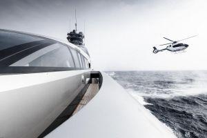 Hubschrauber für die Yacht: ACH135 in Monaco