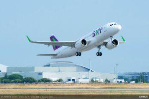 A320neo von Sky Airline aus Chile übernommen