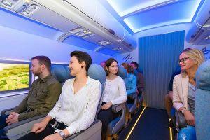 DLR testet Passagiere im Flugzeug ohne Fenster