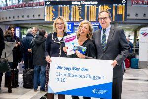 Flughafen STR zählt erstmals 11.000.000 Passagiere