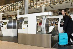 Eurowings in Hamburg mit vollautomatisierter Gepäckaufgabe