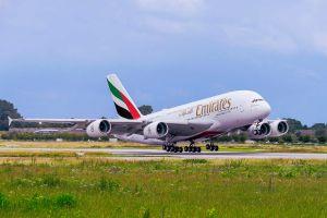 Pistensperre bringt Emirates A380 nach Glasgow