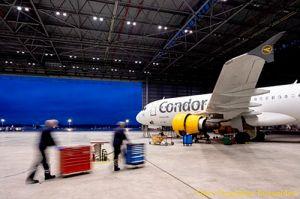 Condor baut Flugzeugwartung in Düsseldorf aus