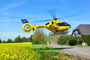 EC135 beim ADAC für Sachsen startklar