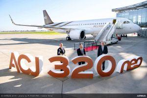 Erstes Geschäftsflugzeug ACJ320neo übergeben