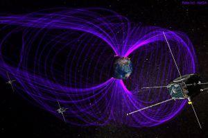 Satelliten beweisen Stehende Wellen auf Erdmagnetfeld