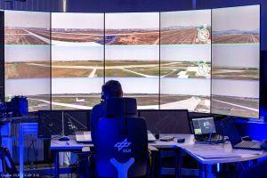 Fluglotsen im Remote Tower bewältigen Multiple Mode