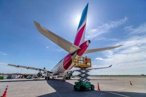 A330 der Eurowings mit Zielen ab Fraport