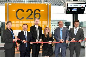 American Airlines A330 steuert Charlotte an