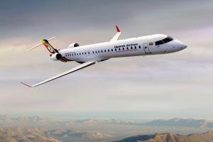 Uganda Airlines empfängt Bombardier CRJ900