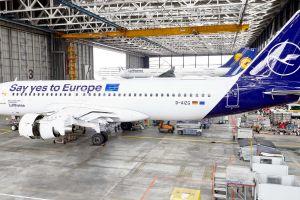 Lufthansa: A320 mit Sonderbemalung zur EU-Wahl