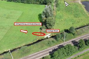 82-jähriger Pilot verunglückt mit Morane vor Papenburg