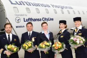 Rostock empfängt CRJ900 aus München