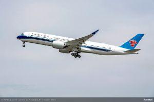 China Southern Airlines flottet erste A350 XWB ein