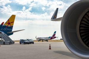 Passagierzahlen am Flughafen Leipzig Halle