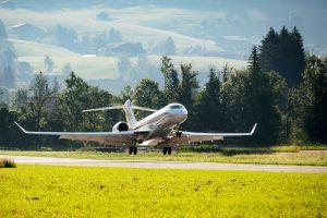 Bombardier Global 7500 auf Schweizer Flugplatz