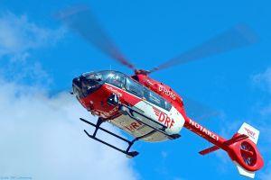 Alarmierung von Hubschrauber und Krankenwagen sinnvoll