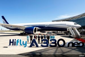 Airbus A330neo bei Hi Fly aus Portugal