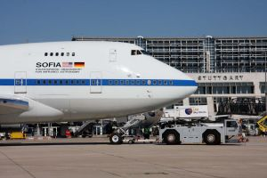 SOFIA in Stuttgart gibt Blick ins Teleskop-Auge frei