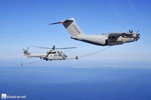 A400M als Tankflugzeug kontaktiert H225M