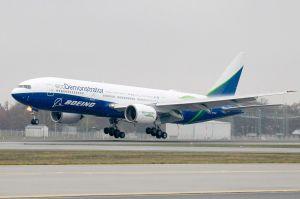 Boeing 777 ecoDemonstrator in Frankfurt gelandet