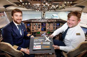 Condor mit Passagerekord in Hamburg