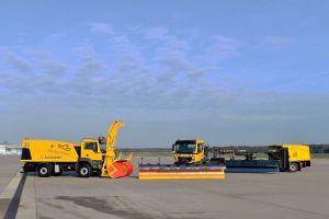Winterdienst: Fuhrpark am Flughafen Köln Bonn verstärkt