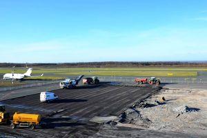 Bau am PAD: Flugzeuge am Vorfeld neu platziert