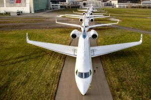 Business Jets interkontinental am Bodensee
